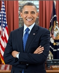 This print is a photograph of President Barack Obama the 44th President of the United States in the Oval Office.