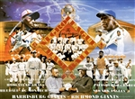 This picture is a composite of different Negro Baseball League teams and superstars