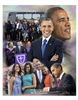 Barack Obama: We Will Overcome by Gregory Wishum is a portrait and montage of images of PresidentbBarack Obama, the first family and images from the civil rights movement.