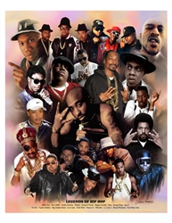 Legends of Hip Hop by Gregory Wishum