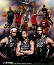 6-3-1 Miami Heat by Gregory Wishum