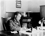 Booker T. Washington at Desk, Tuskegee Institute, c. 1890-1910