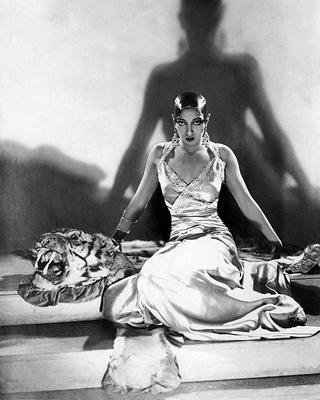 Josephine Baker On Tiger Rug 1925