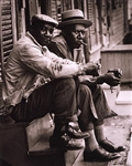 African American Men Sitting on Stoop, Charleston, SC, 1962