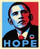 This print from the presidential campaign of Barack Obama depicts the profile of the president