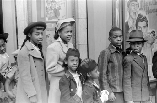 Children Going To Easter Sunday Matinee Chicago 1941