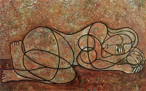 Greek Female Sculpture Reclining Female by An...