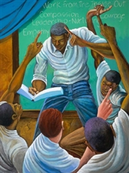 Each One Teach One by Ernie Barnes
