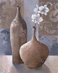 Silver Orchids I by Keith Mallett