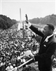 This print depicts Dr Martin Luther King addressing the crowd at the March on Washington in 1963