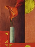 Still Life with Red Callas II