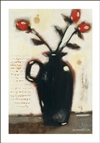 Red Roses in Black Vase I