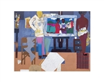 Artist with Painting and Model, 1981 by Romare Bearden
