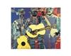 Three Folk Musicians by Romare Bearden