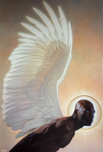 Dining Room Drawing: The Watcher By Thomas Blackshear