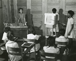 4th and 5th Grade Demonstrate Moving Picture which they Made, Flint River School, GA, 1939