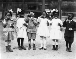 First Graders Learn to Brush Their Teeth, Washington, DC 1910
