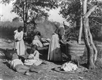 African American Family Doing Laundry, circa 1900