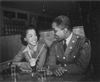 Sgt. Franklin Williams Splits a Soda with His Friend Ellen Hardin, 1945