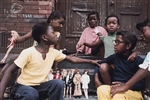 Girls and Barbies, East Harlem, 1970