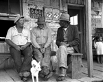 Conversation on Porch of Grocery Store, Jeanerette, LA, 1938