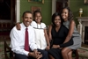 Obama Family Portrait, Green Room is a posed family portrait.