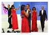 This is a photographic print of President Barack Obama and the First Lady Michelle Obama on the occasion of the 57th inaugural ball