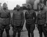 African American Officers of the 366th Infantry on the SS Aquitania