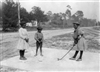 Children Playing Golf with Clubs Made of Sticks, 1905