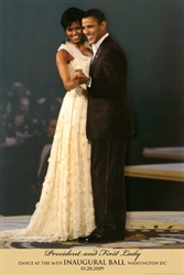 This print depicts President Barack Obama and First Lady Michelle Obama dancing at the 56th inaugural ball in January 2009.