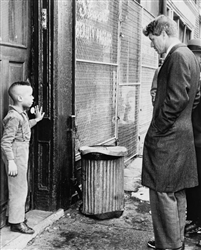 Senator Robert Kennedy Talks with Young Ricky Taggart, Gates Avenue, Brooklyn, 1966