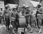 African American Soldiers Serve Ration, Northern Ireland, 1942