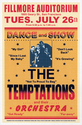 The Temptations, Fillmore, 1966